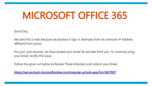 O365 Phishing Email Body